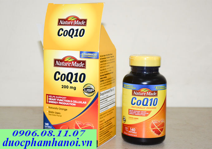 Nature made coq10 200mg 140 vien
