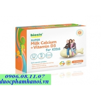 Caxi sữa Biosis Úc super milk calcium + vitamin D for kids