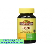 Nature made Iron 65mg thuốc bổ sung sắt