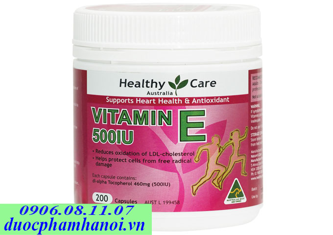 Healthy care vitamin E 500iu