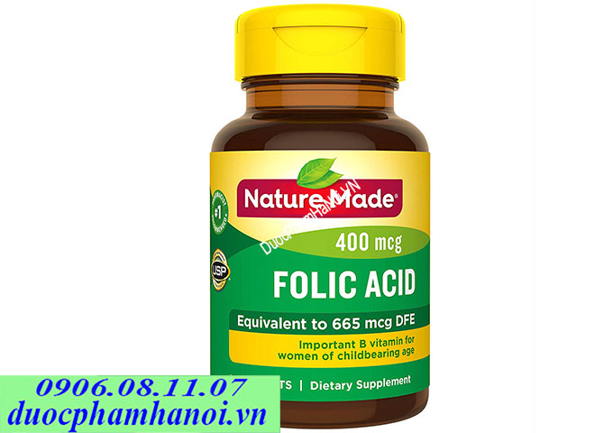 Nature made acid folic 250 vien
