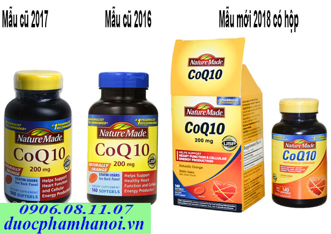 Nature made coq10 200mg 140 viên