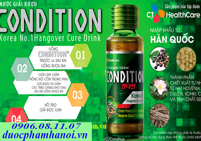 Nuoc giai ruou Condition Han Quoc