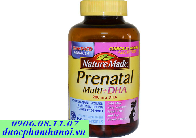 Nature made prenatal multi dha 150 vien