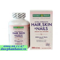 Thuốc nature's bounty hair skin and nails 5000 mcg of biotin