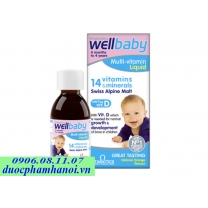 Wellbaby multi vitamin liquid bổ sung 14 vitamin cho bé