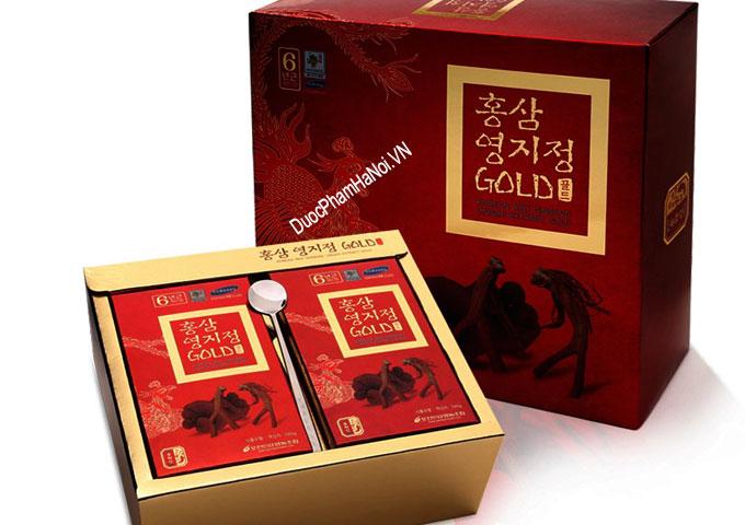 Cao hồng sâm linh chi Pocheon hộp 2 lọ x 240gr của Hàn Quốc